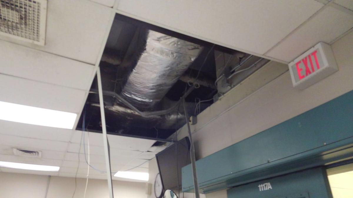 Collapsed ceiling- Jackson County Jail