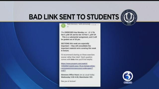 UConn officials investigate report of inappropriate link sent to students