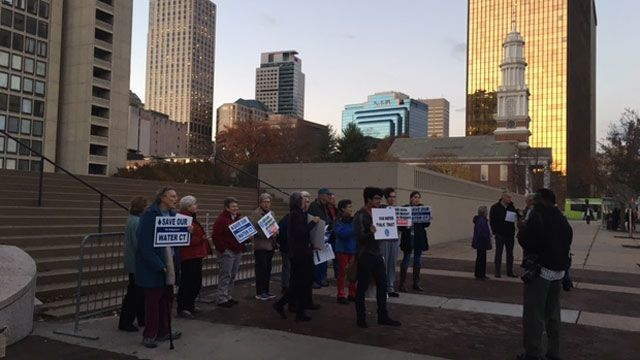 Protesters push to protect public drinking water