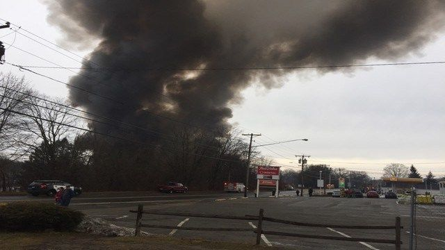 Willimantic fire efforts continue into Monday