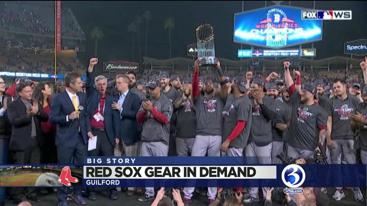 VIDEO: CT business churns out Red Sox gear