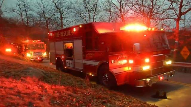Tree worker seriously injured after boom lift falls onto Ledyard home