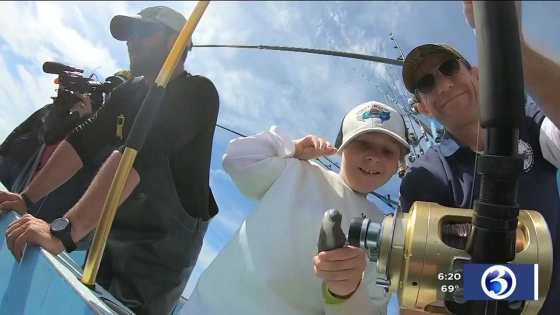 Local boy with cerebral palsy gets fishing trip of a lifetime