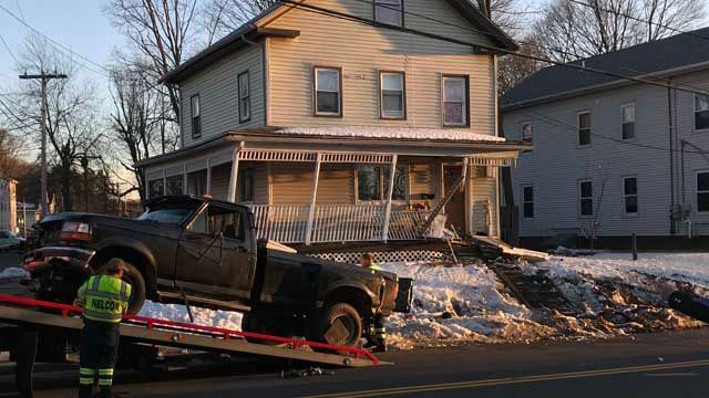 Driver high on heroin crashes truck into Meriden home