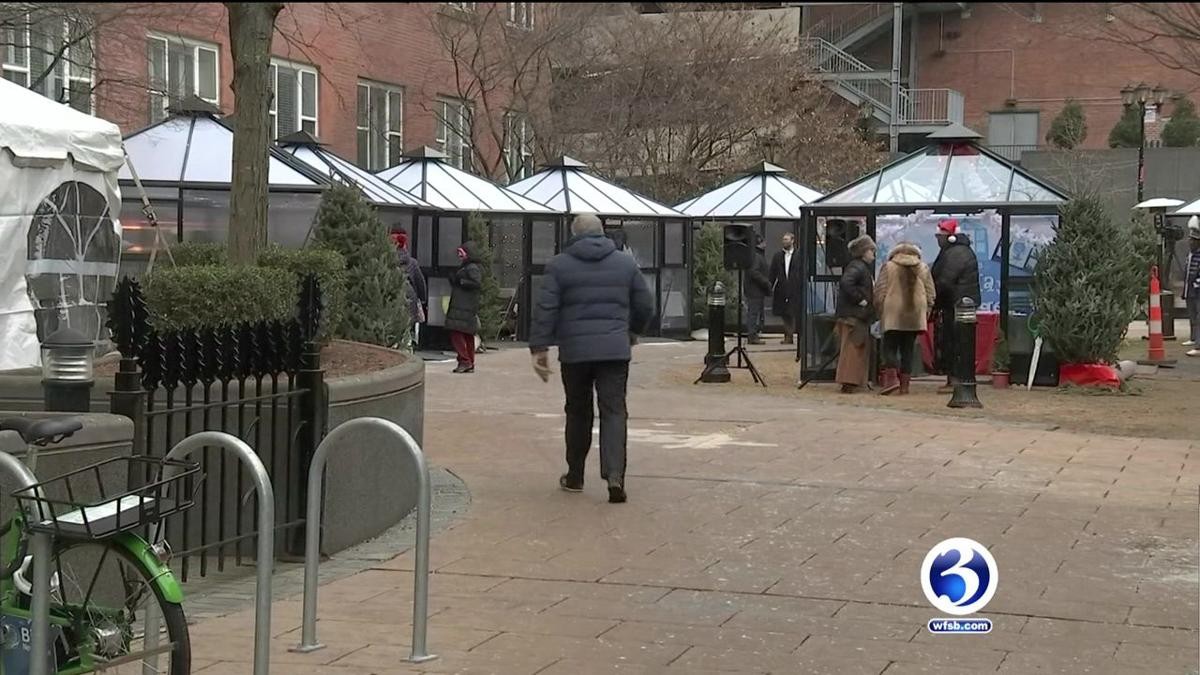 VIDEO: Holiday village featuring local crafts opens in downtown New Haven