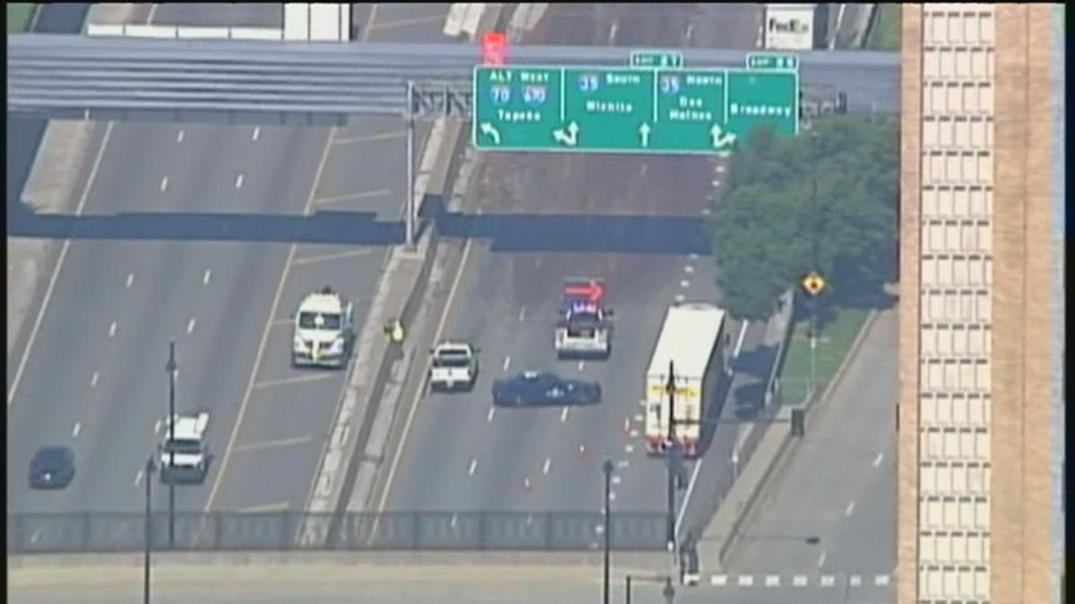 Spilled pig intestines cause traffic delays in downtown Kansas City