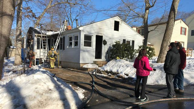 Firefighters respond to fire at home in East Hampton