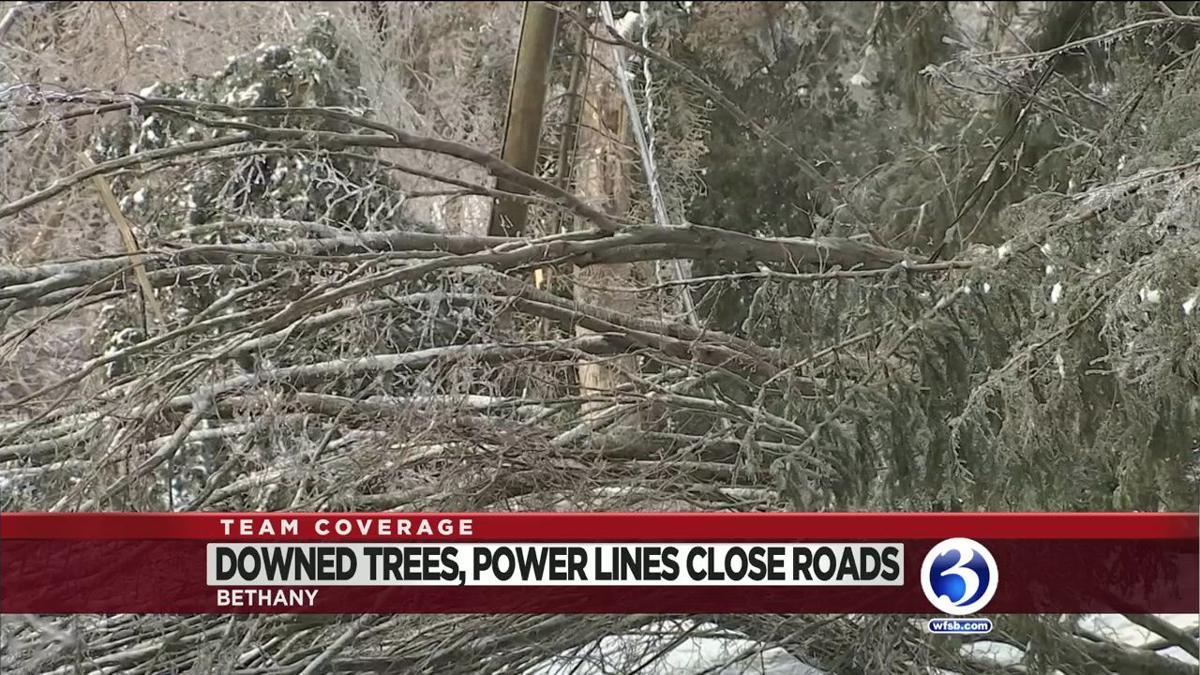 VIDEO: Crews work to clear roads, restore power in Bethany