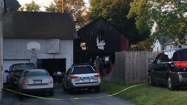 Torrington firefighters respond to fire that spread to barn, apartment