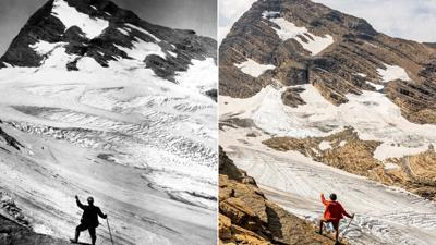 Some of Glacier National Park's glaciers have lost as much as 80% of their size in the last 50 years