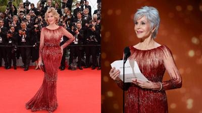 Jane Fonda re-wore her 2014 dress to the Oscars after vowing to not buy new clothes for sustainability