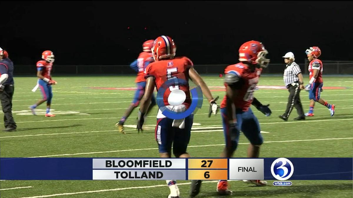 Bloomfield 27  Tolland 6
