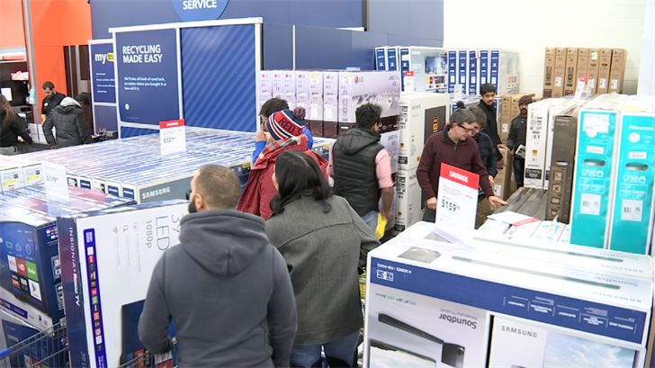 Crowds rush to stores for early Black Friday deals