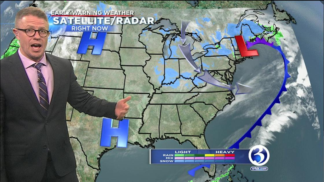 FORECAST: Isolated snow showers could pop up on Wednesday