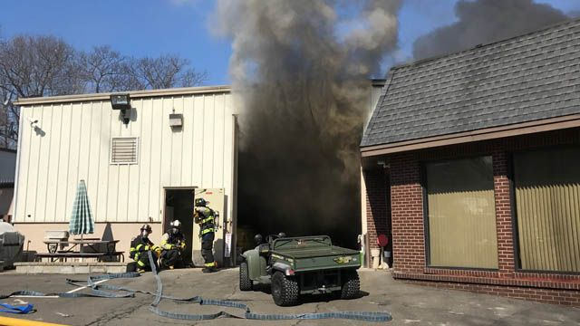 Car catches fire during repairs at Wolcott auto shop