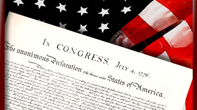 Yale displays printed copy of Declaration of Independence