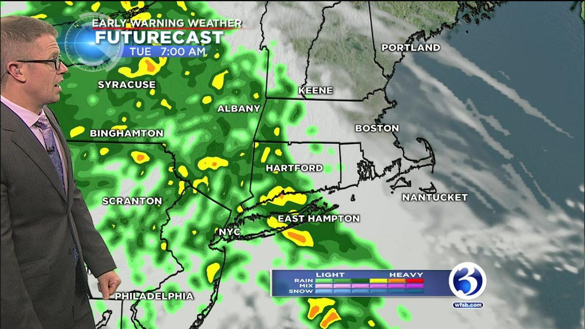 Heavy rain on the way for Tuesday