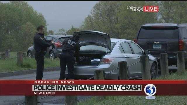 VIDEO: Police investigating deadly crash near East Rock Park in New Haven