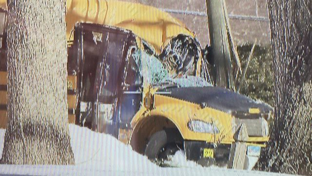 Driver killed after tree falls onto school bus in Avon