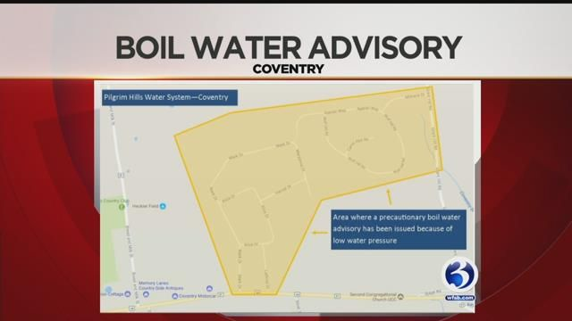 Boil water advisory lifted in Coventry