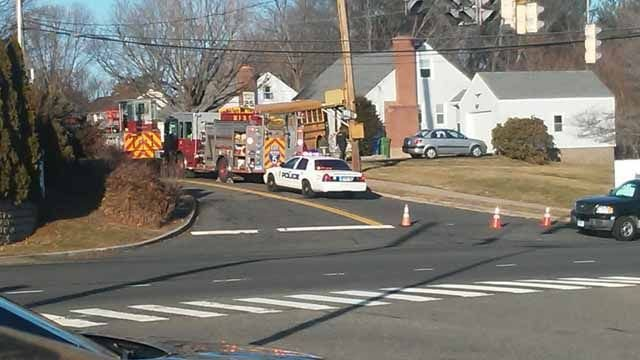 No students injured after school bus hits Meriden house