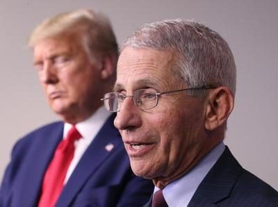 Fauci says he's 'walking a tightrope' as people try to 'pit' him against the president