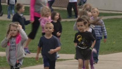 Colchester students participate in 'world's largest exercise class'