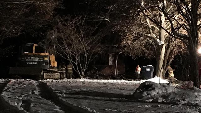 Home destroyed by fire in Seymour