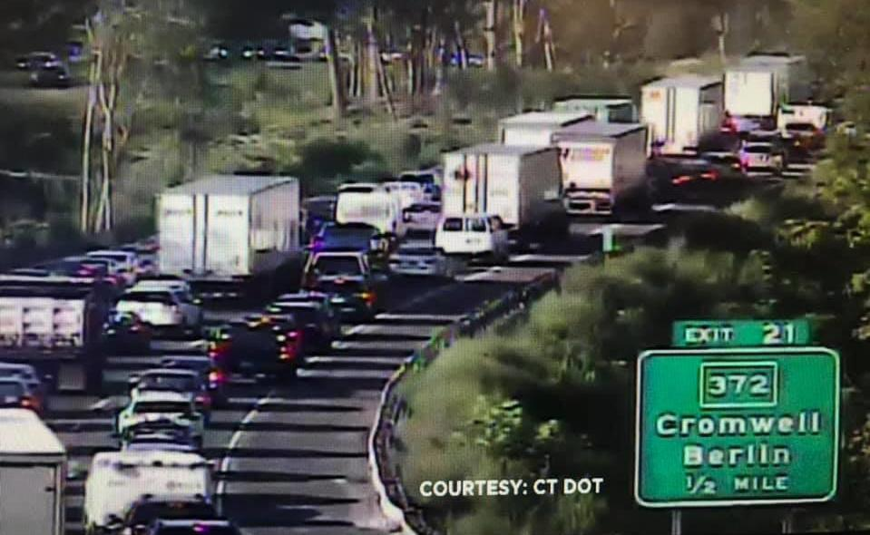 Dump truck crash leads to 4 miles of delays on I-91 in Middletown