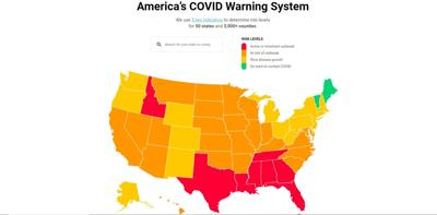 COVID Act Now map