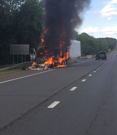 Tolland Tractor Trailer Fire