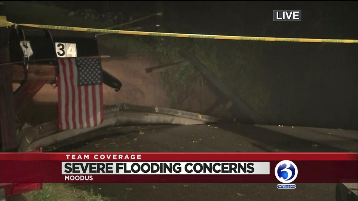 VIDEO: Bridges, roads washed away in Tuesday's flooding