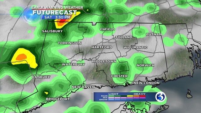 Isolated showers possible Sunday