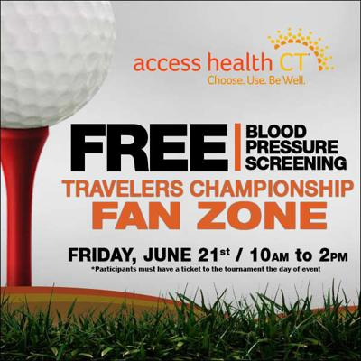 Join 3 Cares and Access Health CT at Travelers Championship for free blood pressure screenings on Friday, June 21st from 10:00a-2:00p.