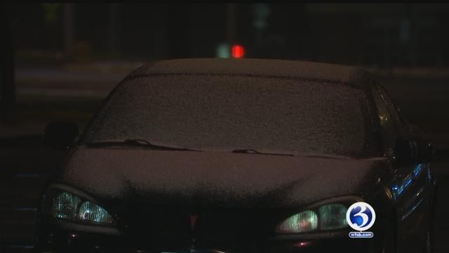 Slushy, wintry mess greeted drivers across the state Monday morning