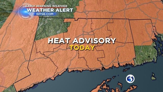 High heat, high humidity to continue after thunderstorm warning issued for parts of CT