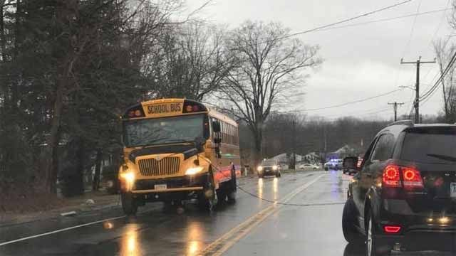 No injuries after wire falls on Southington school bus