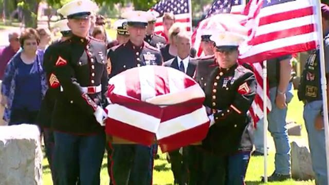 WWII marine finally buried, 75 years after he died