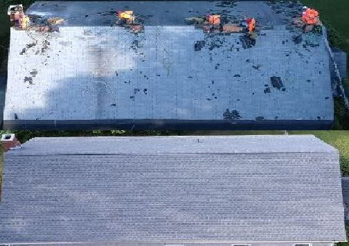 VFW Roof Before & After