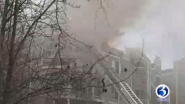 Fire that destroyed several New Haven condos rekindled Tuesday night