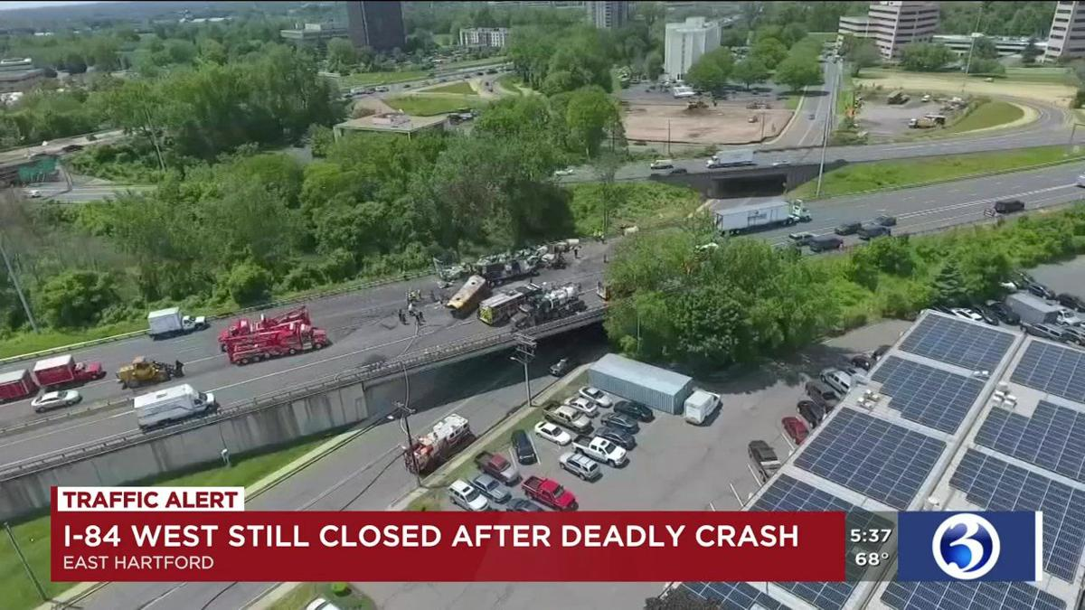 VIDEO: I-84 remains closed after deadly crash
