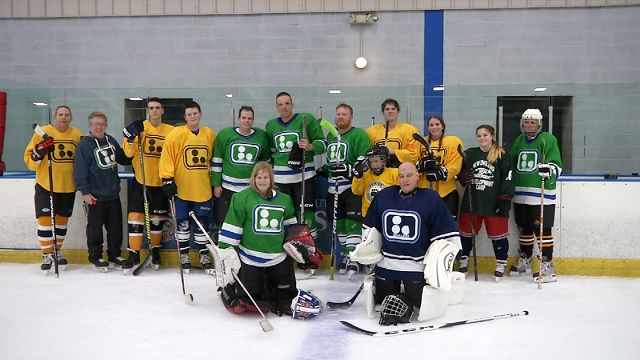 Hockey team helps blind players rekindle their love of the game