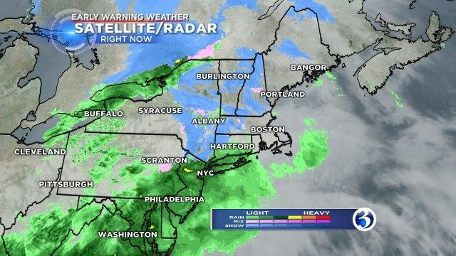 Wintry mix could impact parts of CT Saturday, dry conditions