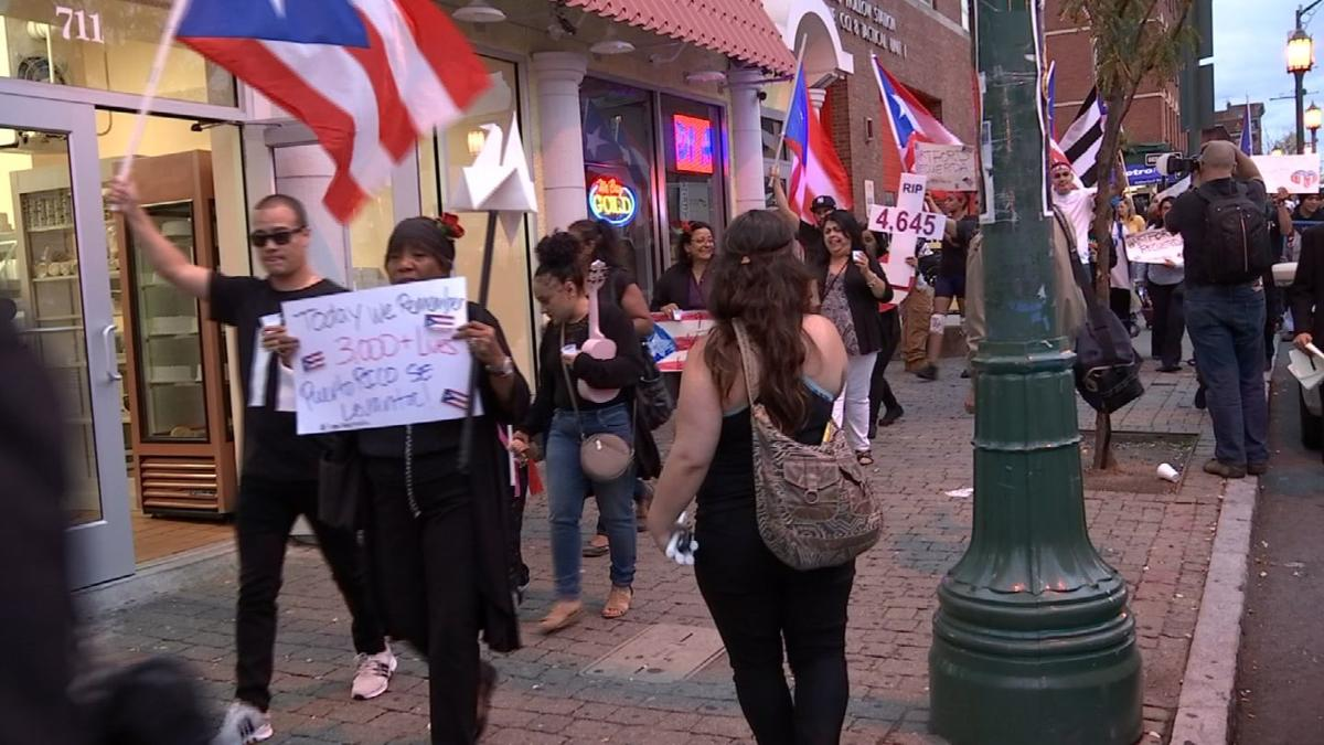 Video: March, vigil held to remember one year anniversary of Hurricane Maria