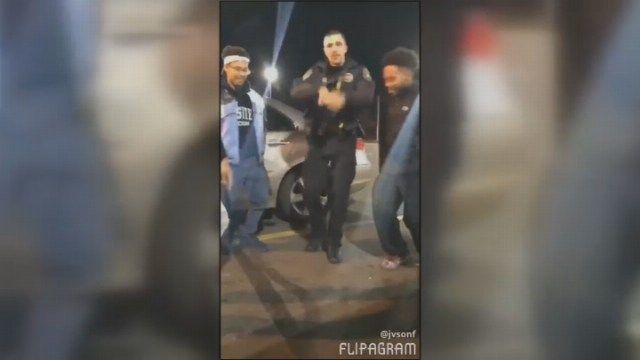 New Britain officer dances with local teens