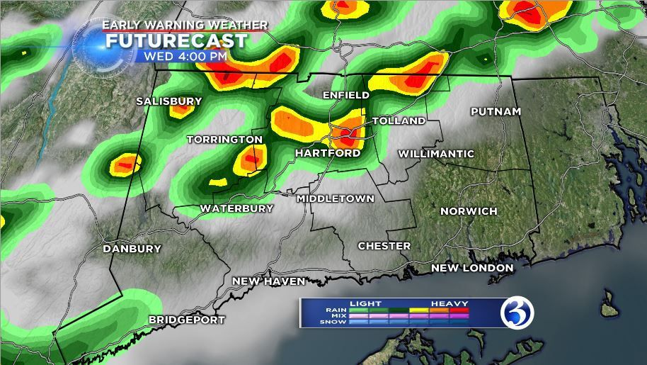 Storms could fire up as heat continues on Wednesday