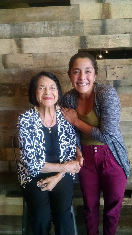 Dolores Huerta (left) with Xochitl Rodriguez