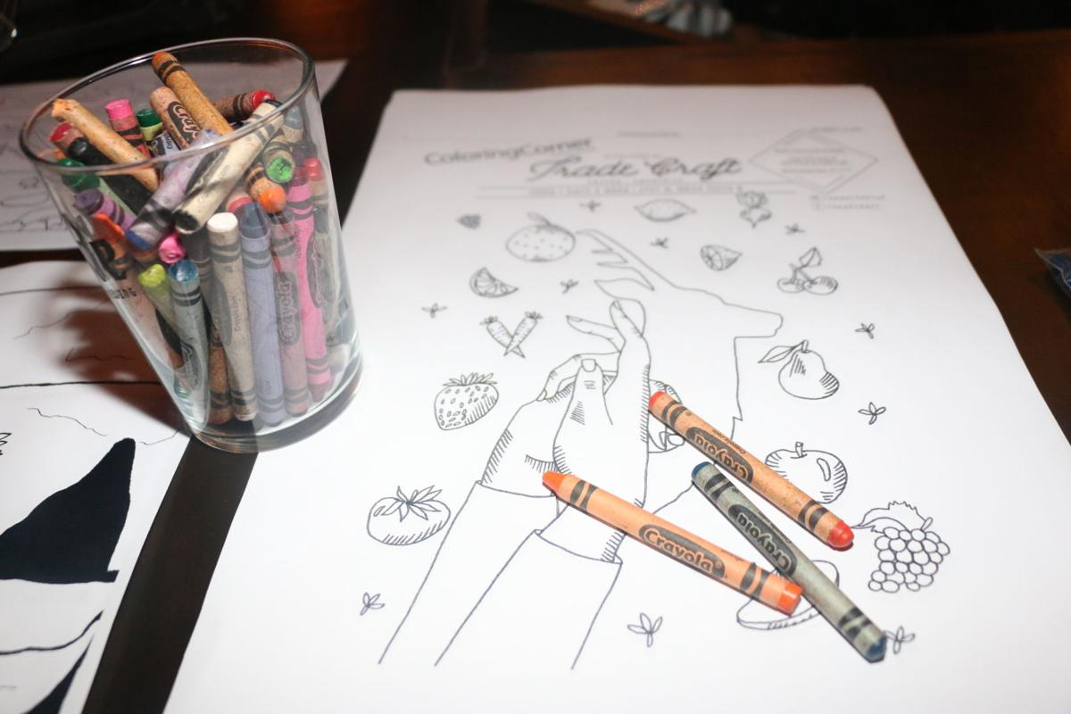 Adult coloring book night