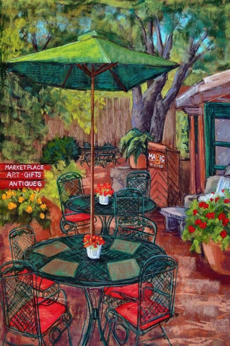 Magic Bistro patio by Candy Mayer
