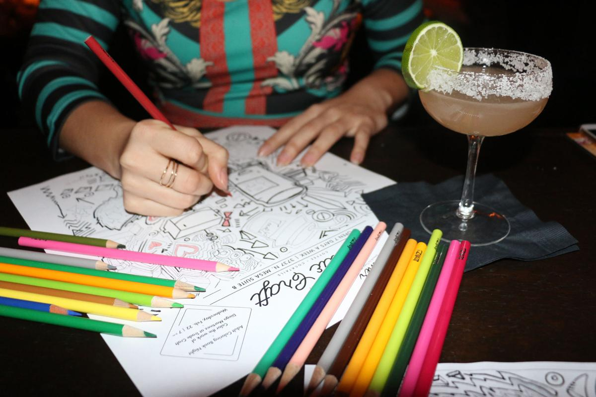 Image result for adult coloring night + cocktails
